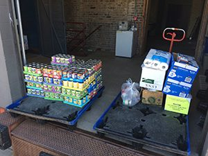 Donations of Canned Goods and Personal Items